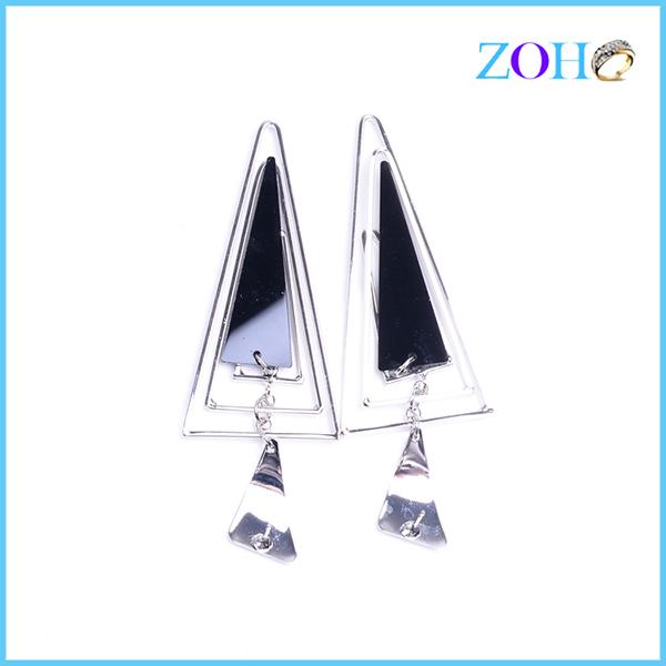 欧美时尚倒三角精致耳饰 个性女式耳环 长款耳钉