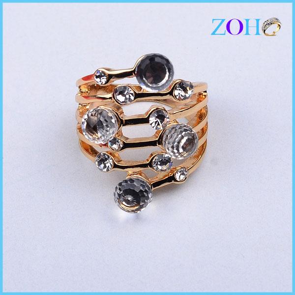 厂家库存戒指 热销欧美流行玻璃水晶玻璃食指戒 戒指
