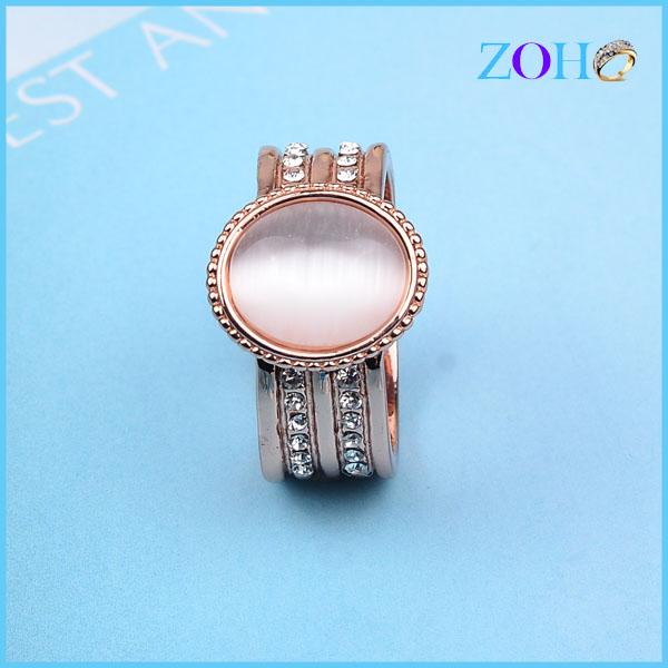 欧美外贸时尚首饰批发香槟色锆石戒指批发手饰厂家饰品