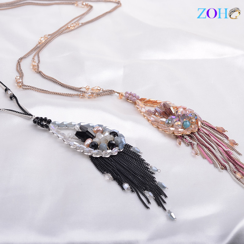Fashion and high-grade long sweater paint chain