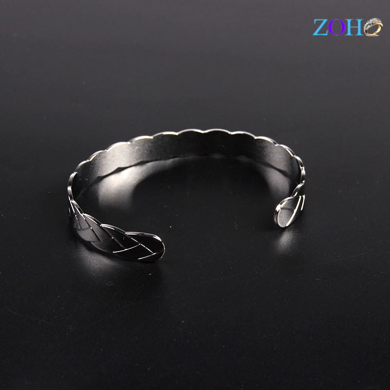 Pattern solid bangles women metal copper silver color fashion bracelets bangles