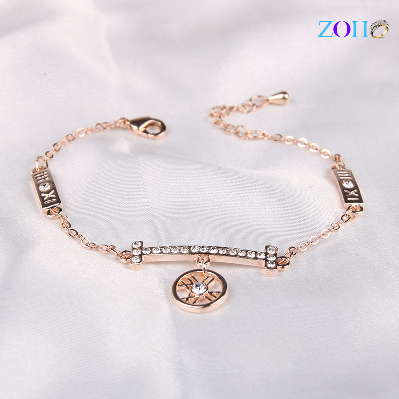 Korean version of the Roman alphabet bracelet alloy diamond bracelet