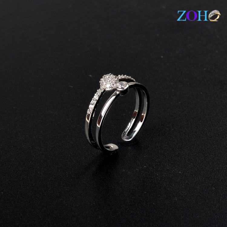 新款韩版水晶时尚精致戒指