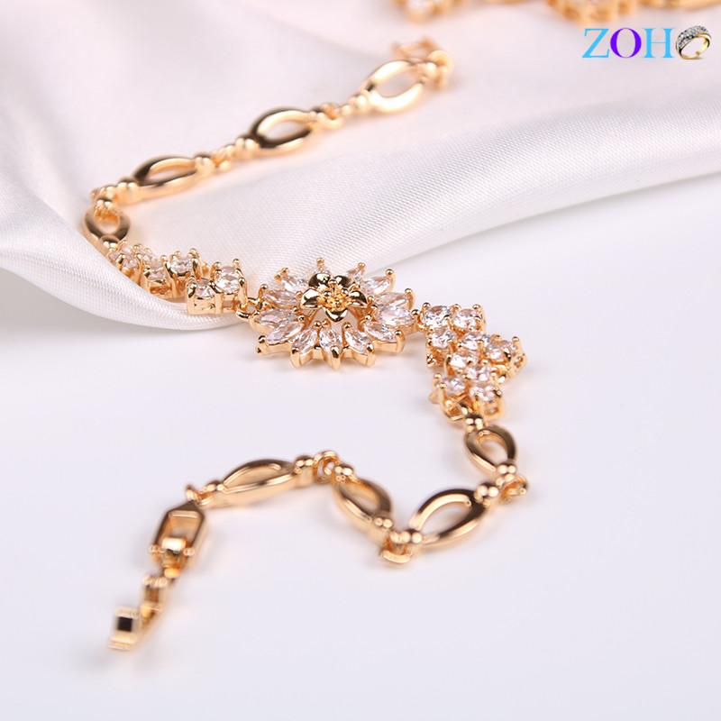 新款 白色锆石手链 可调节尺寸手环
