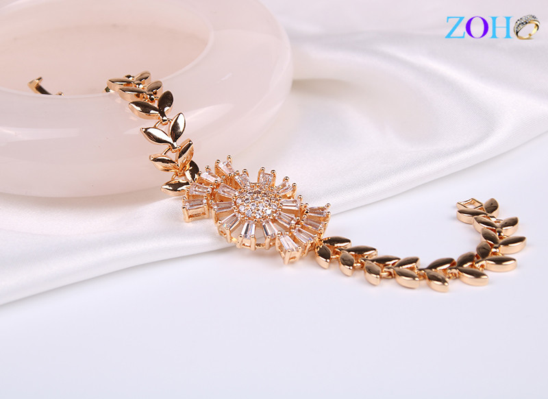 畅销新款 白色锆石手链 可调节尺寸手环