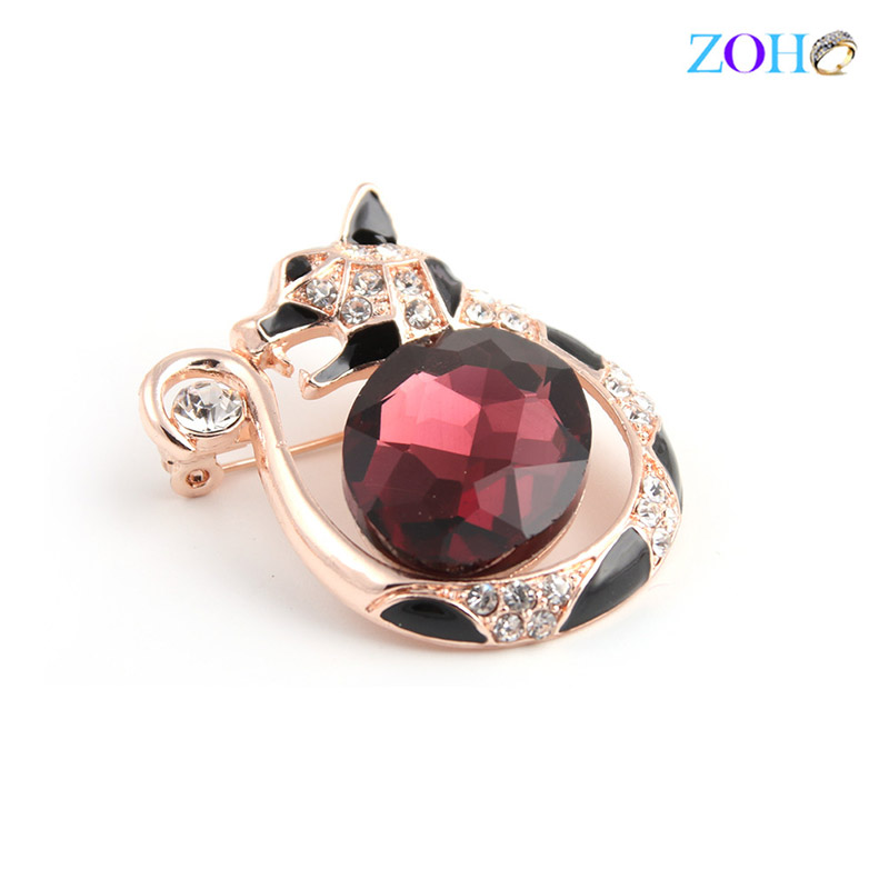 Europe and the United States bursts of foreign trade jewelry animal brooch crystal stone mosaic fashion big pin
