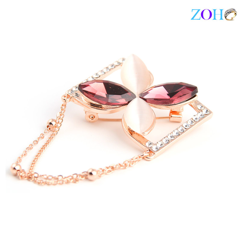 Europe and the United States bursts of foreign trade jewelry flowers horse eyes brooch fashion wild clothing pin
