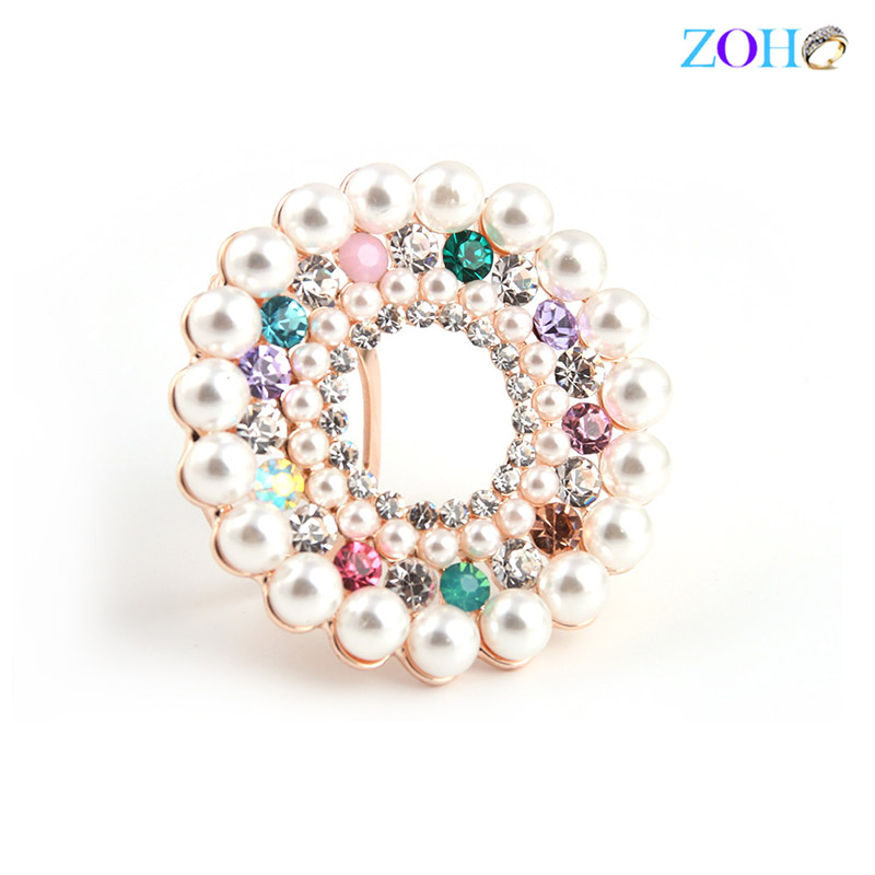 Europe and the United States bursts of foreign trade jewelry round pearl brooch fashion wild clothing pin
