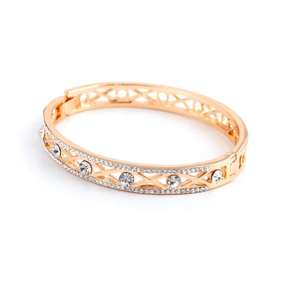 新款韩版时尚镂空镶钻手镯